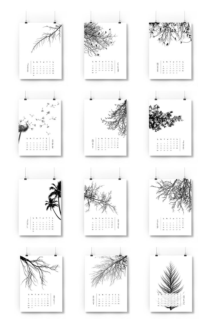 Stáhněte si krásný minimalistický kalendář Vanessy Quijano