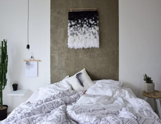 DIY / Vlněná dekorace na stěnu