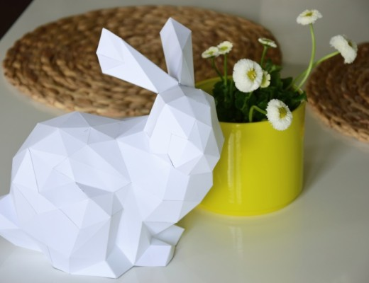 Stáhněte si šablonu velikonočního zajíce a skládejte