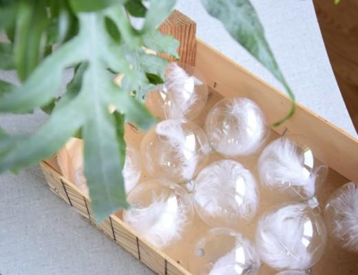DIY peříčkové baňky na vánoční strom + soutěž
