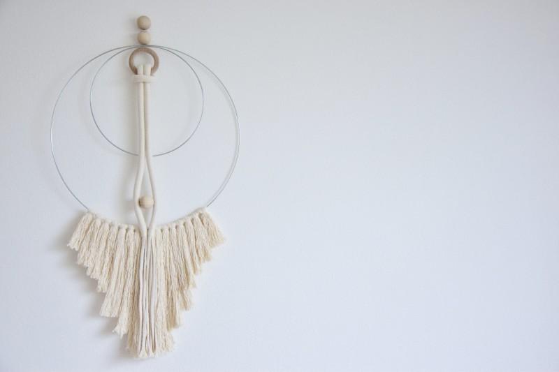 DIY weavingové závěsné dekorace na stěnu