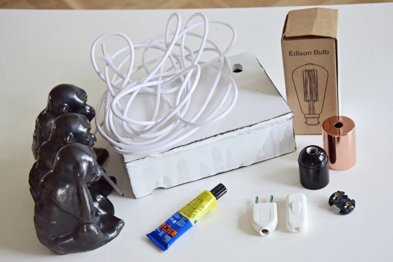 DIY keramická lampa